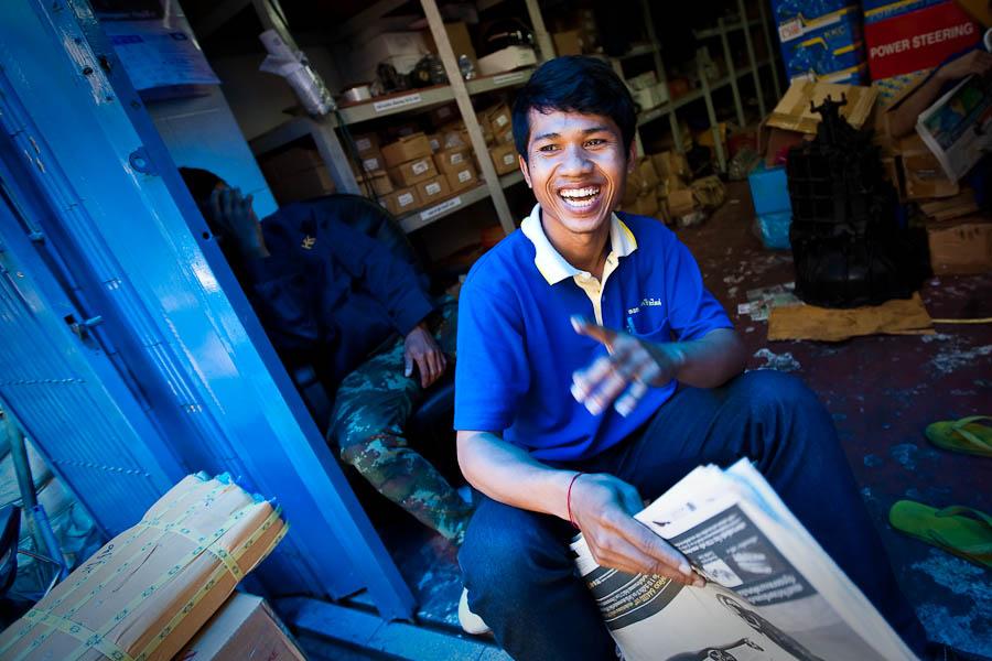 Man in blue, Chinatown, Bangkok
