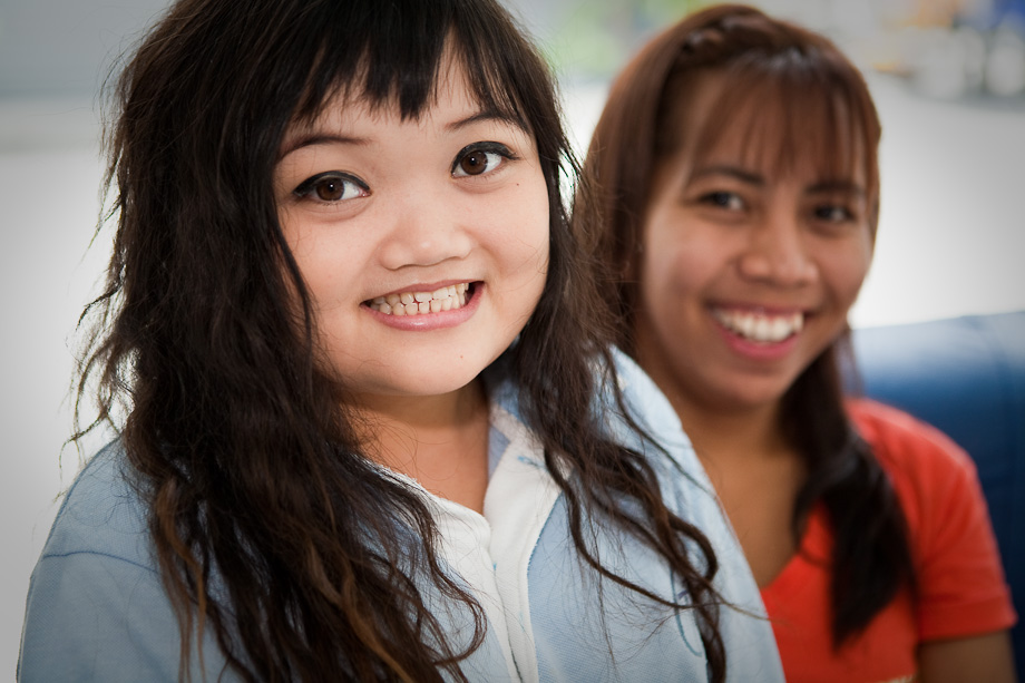 Beauticians in the Outreach Centre, Pattaya