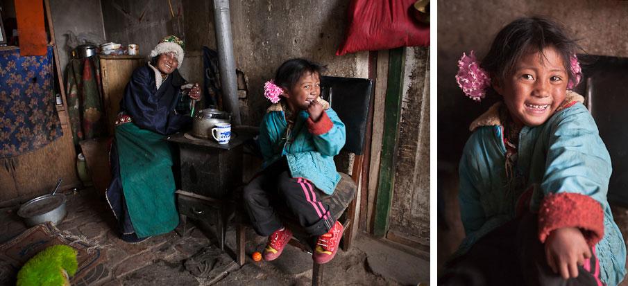 Tea in Maduo, Qinghai, Tibetan Plateau