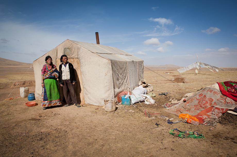 Nomads outside Maduo, Qinghai, Tibetan plateau